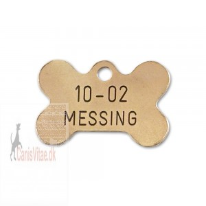 Hundetegn messing lille kødben 10-02-31