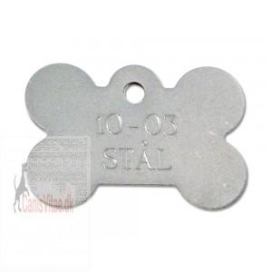 Hundetegn rustfri stål stort kødben 10-03-31