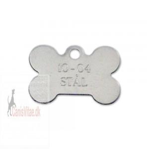 Hundetegn rustfri stål lille kødben 10-04-31