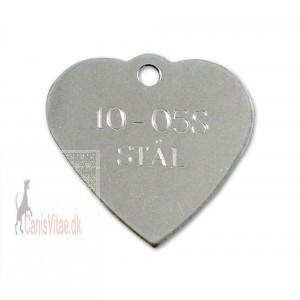 Hundetegn rustfri stål hjerte 10-05 S-31