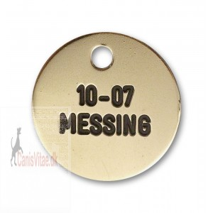 Hundetegn messing 23 mm. 10-07-31