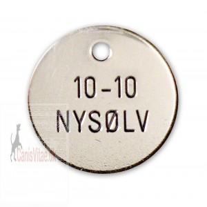 Hundetegn nysølv 23 mm. 10-10-31