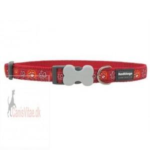 Red Dingo halsbånd, rødt m. poter fra-31