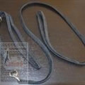 Udstillingsline Nylon med Chrom Sort-31