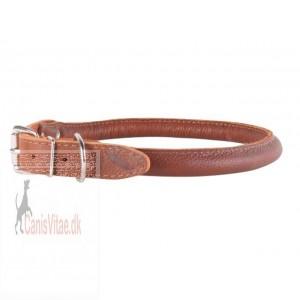 Collar Soft rundsyet læder halsbånd, Brun fra-31