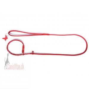 Collar rundsyet læder udstillingsline, 135cm/10mm flere farver-31