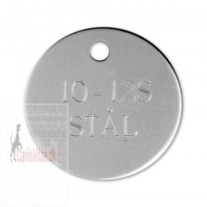 Hundetegn Rustfrit Stål-33mm 10-12S-35