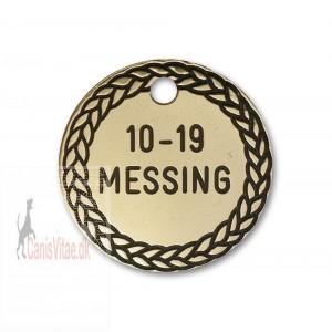 Hundetegn Messing-27mm 10-19-311