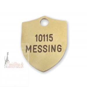 Hundetegn Messing-18x23mm 10115-36