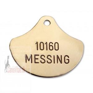 Hundetegn Messing-38x32mm 10160-315