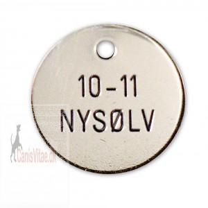 Hundetegn Nysølv-27mm +10-11-31