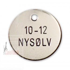 Hundetegn Nysølv-33mm 10-12-32