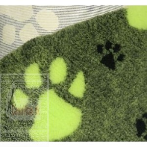 Vet-bed, 100 x 150 cm Grøn med limegrøn pote-32