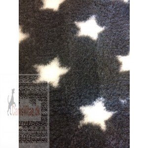 Vet-bed, 100 x 150 cm Koksgrå med hvide stjerner-34