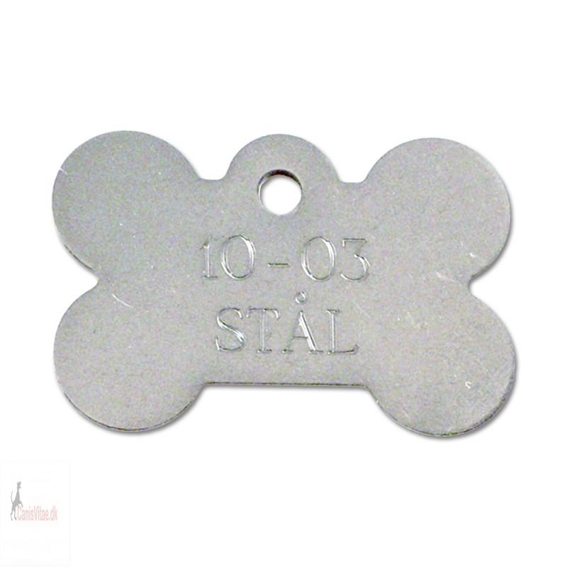 Hundetegn - rustfri stål - stort kødben - 10-03