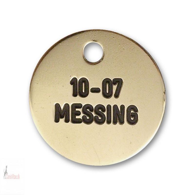 Hundetegn - messing - 23 mm. - 10-07