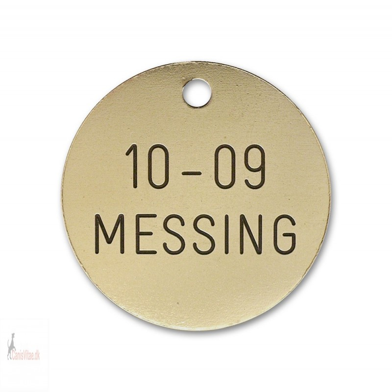 Hundetegn - messing - 33 mm. - 10-09