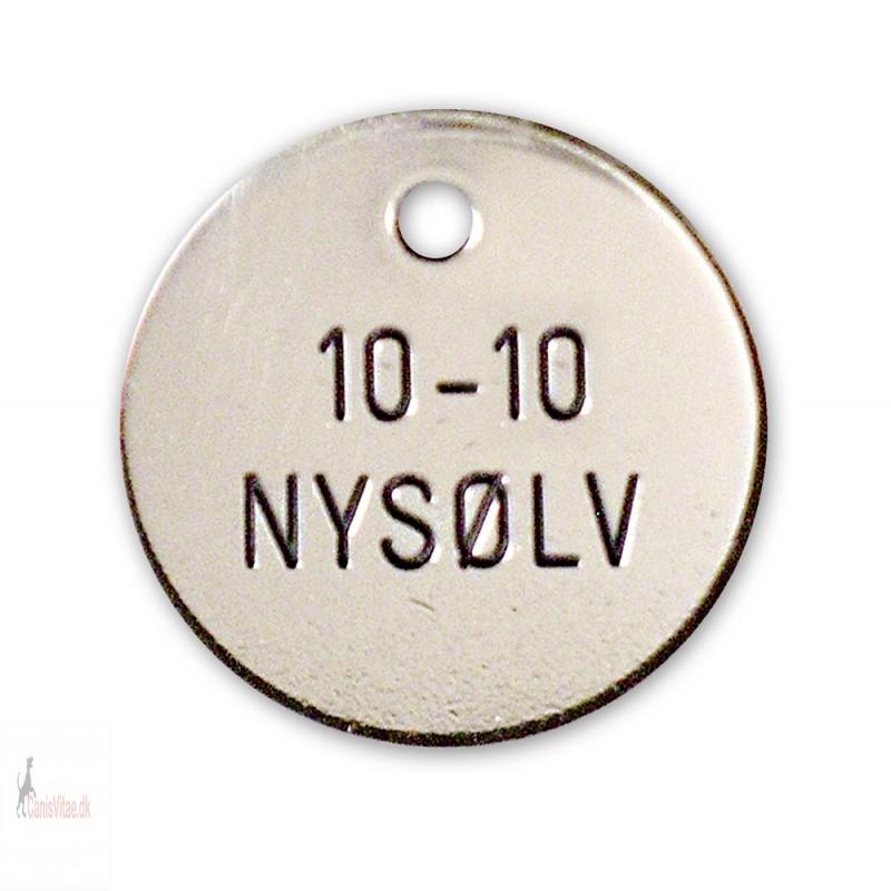 Hundetegn - nysølv - 23 mm. - 10-10