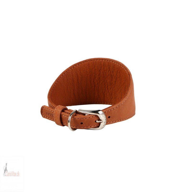 Collar mynde halsbånd, læder brun Fra-03