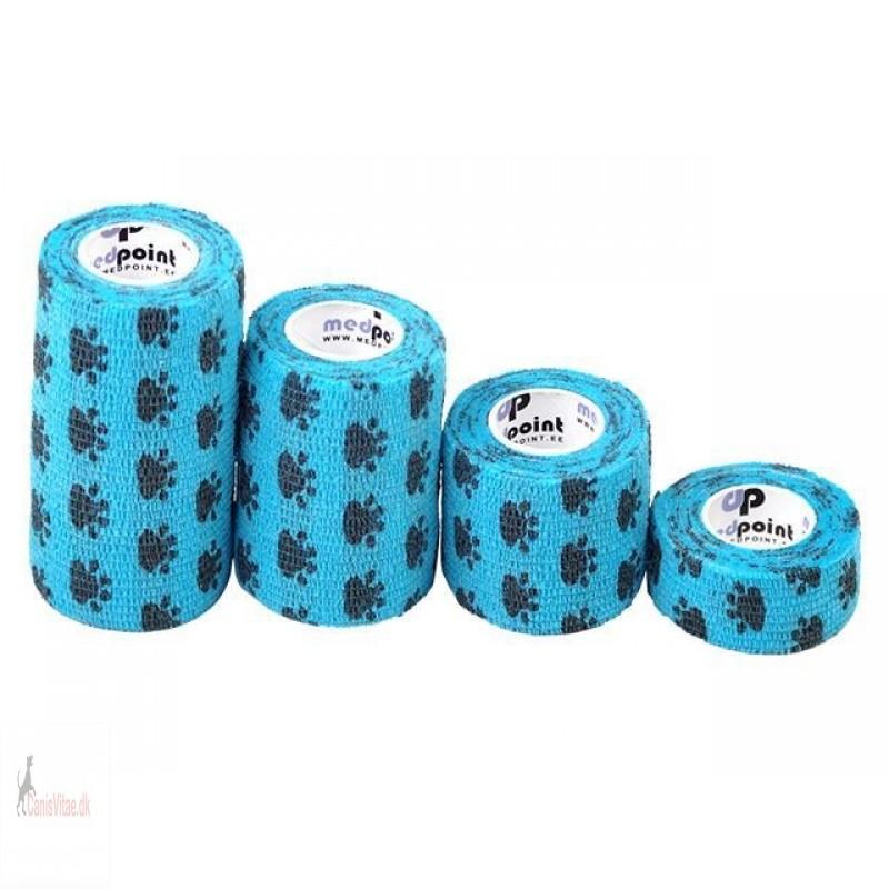 MP bandage, blå m poter - FRA