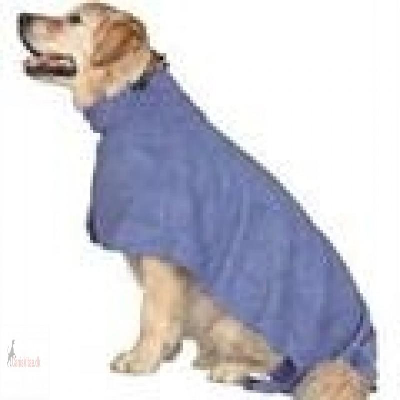 Hundens badekåbe blå microfiber fra-01