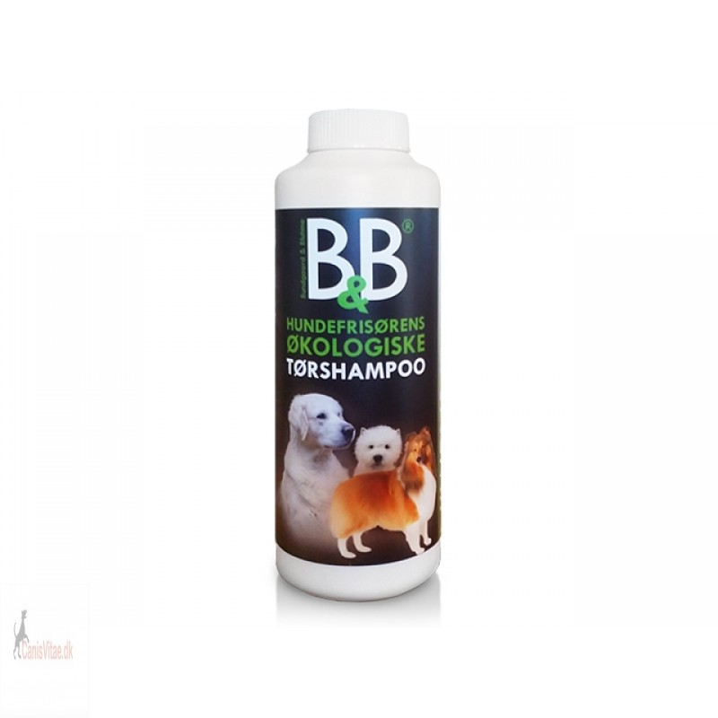 B&B Økologisk Tørshampoo m. jasmin, hund- 130 gram