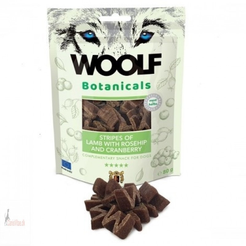 Woolf Botanicals - lamb with roehip and cranberries, 80 gramm