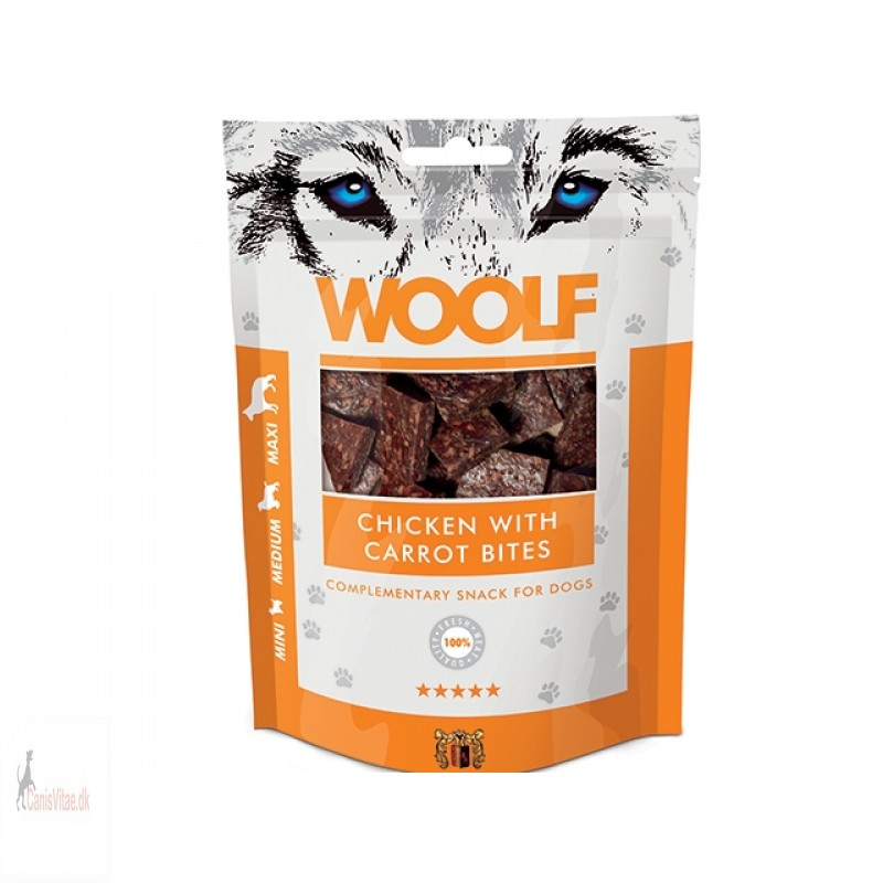 Woolf - Chicken with carrot bites, 100 GRAM
