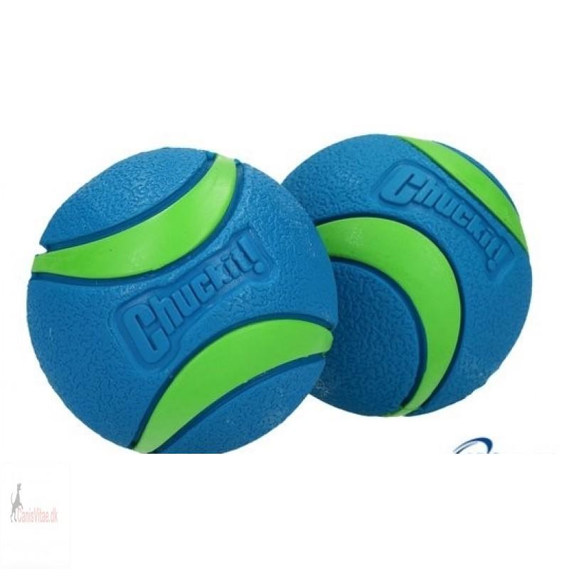 Chuck It Ultra ball, blå/grøn - medium (2stk)