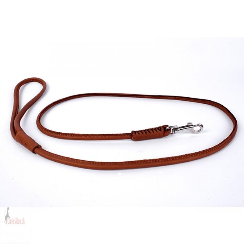Collar læder førerline,brun (183 cm) Vælg - Fra