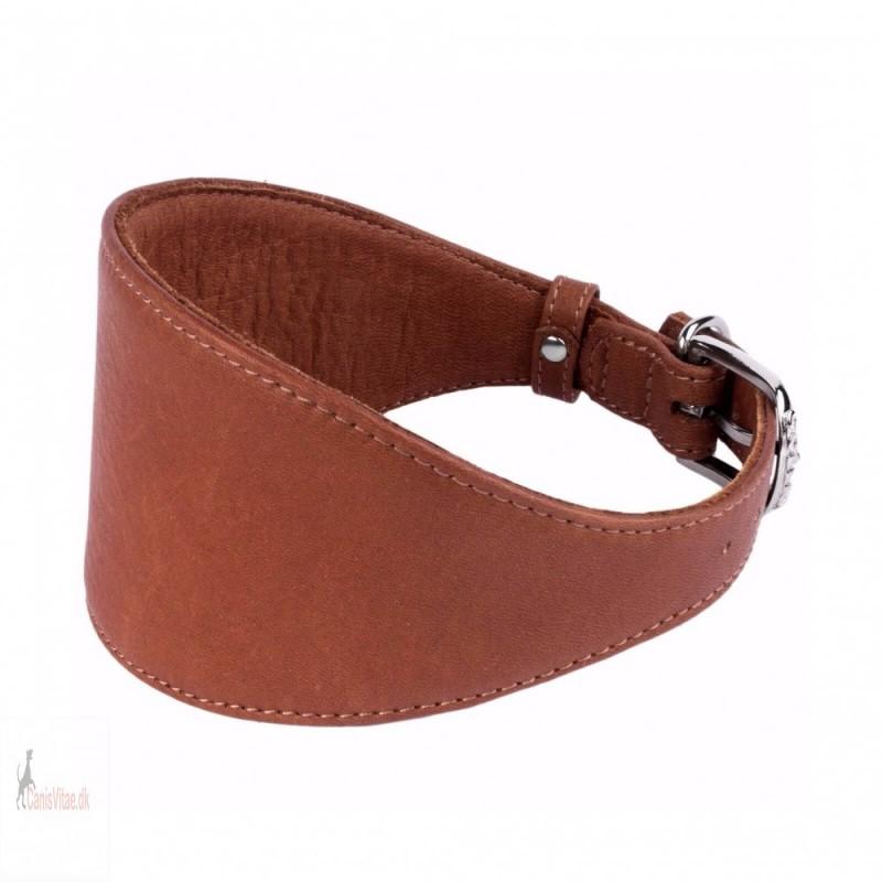 Collar mynde halsbånd, læder brun - Fra