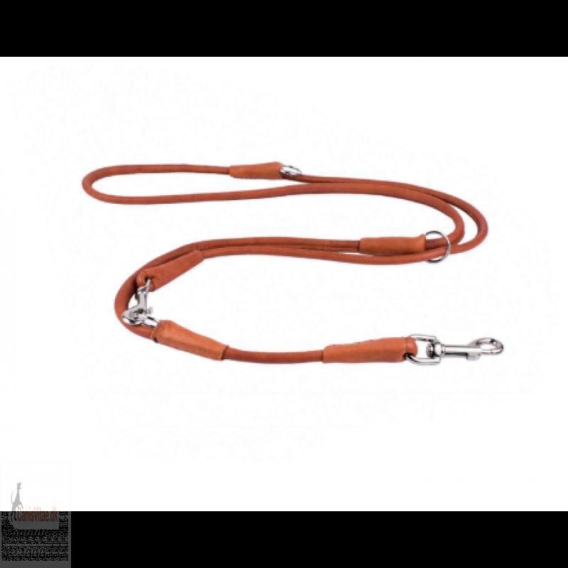 Collar læder dressurline, brun - vælg variant