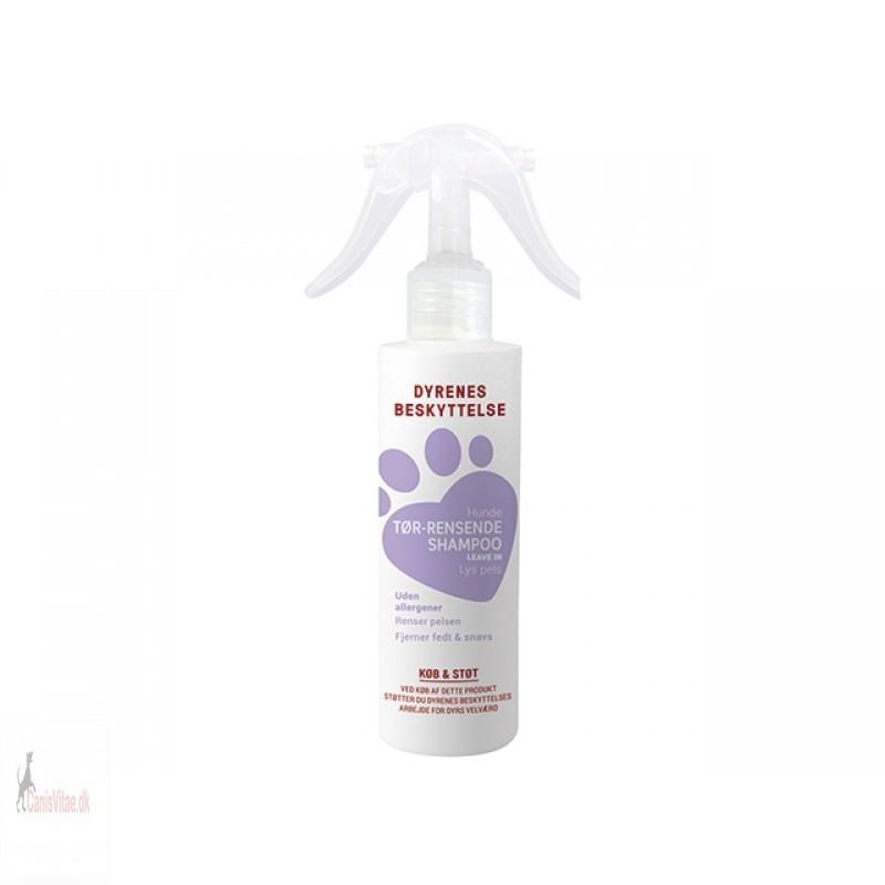 Dyrenes beskyttelse tør shampoo lys pels, 250ml