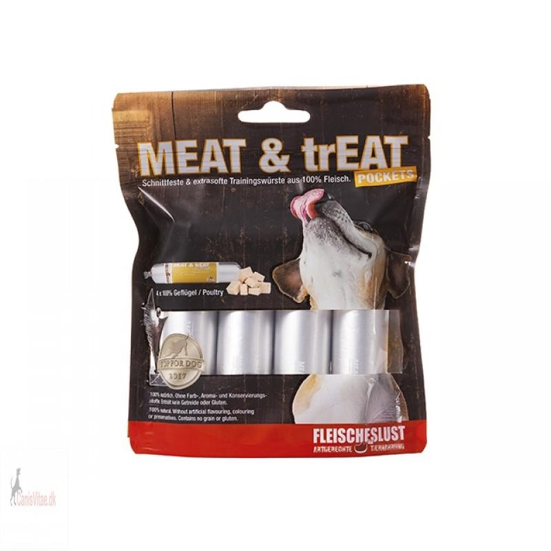 Meat & Treat pocket,fjerkræ - 160gram (4x40G)