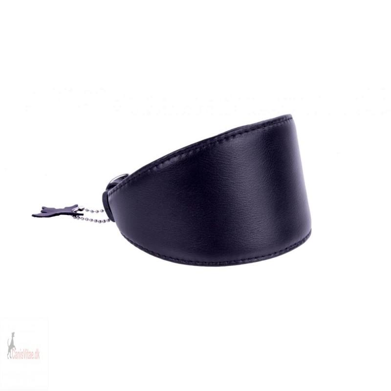 Collar mynde halsbånd, læder sort - Fra