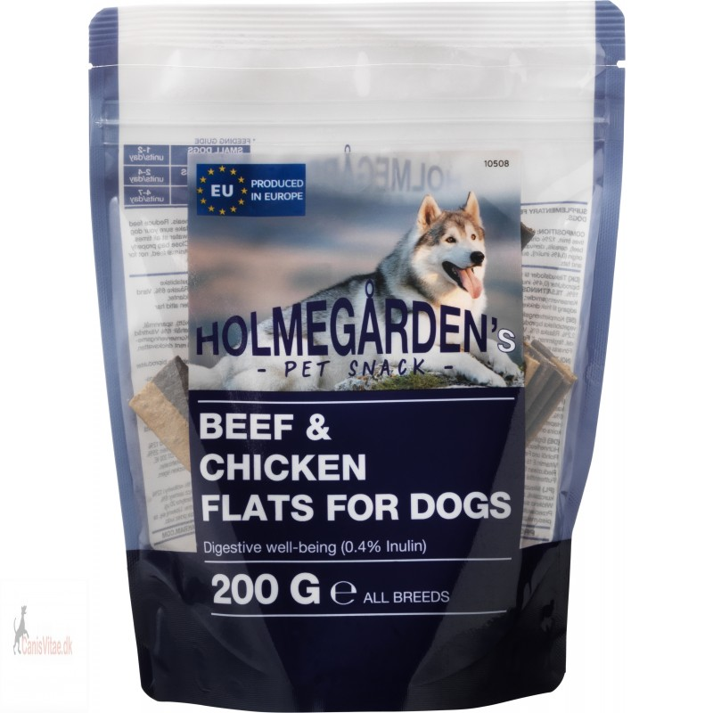 Holmegårdens Meat strips with bacon flavour , 250 gram
