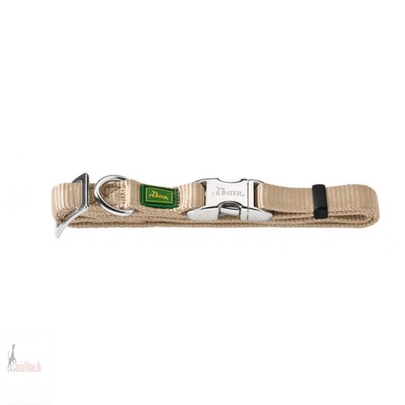 Hunter Vario Alu-Strong halsbånd, 45-65 cm - beige