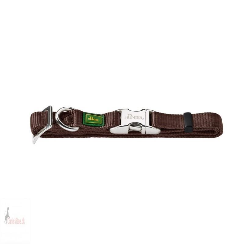 Hunter Vario Alu-Strong halsbånd, 40-55 cm - brun