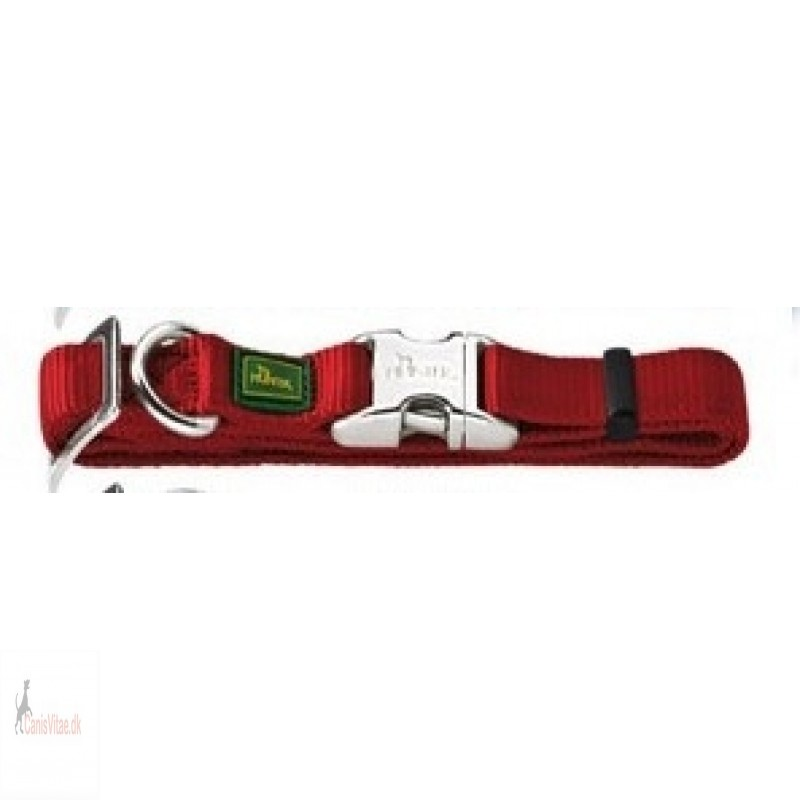 Hunter Vario Alu-Strong halsbånd, 45-65 cm - mørk rød