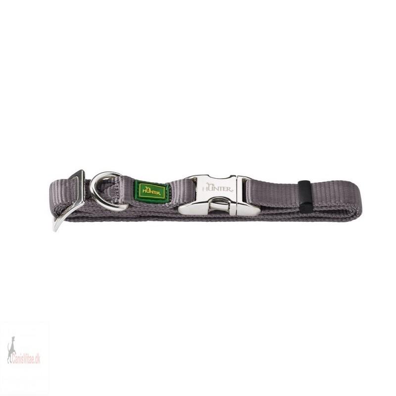 Hunter Vario Alu-Strong halsbånd, 45-65 cm - grå
