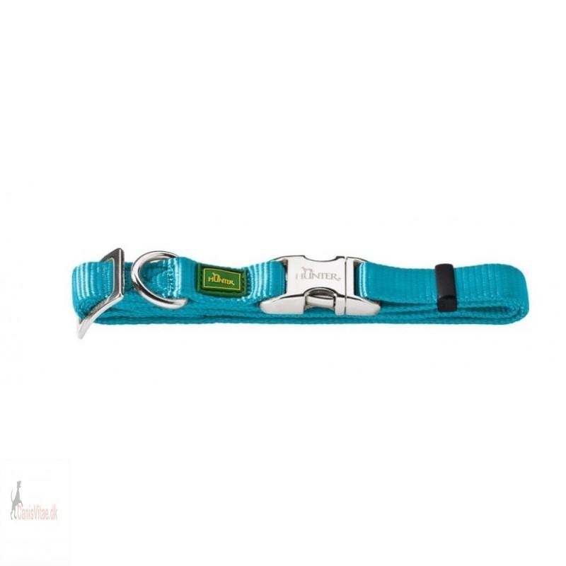 Hunter Vario Alu-Strong halsbånd, small lys blå