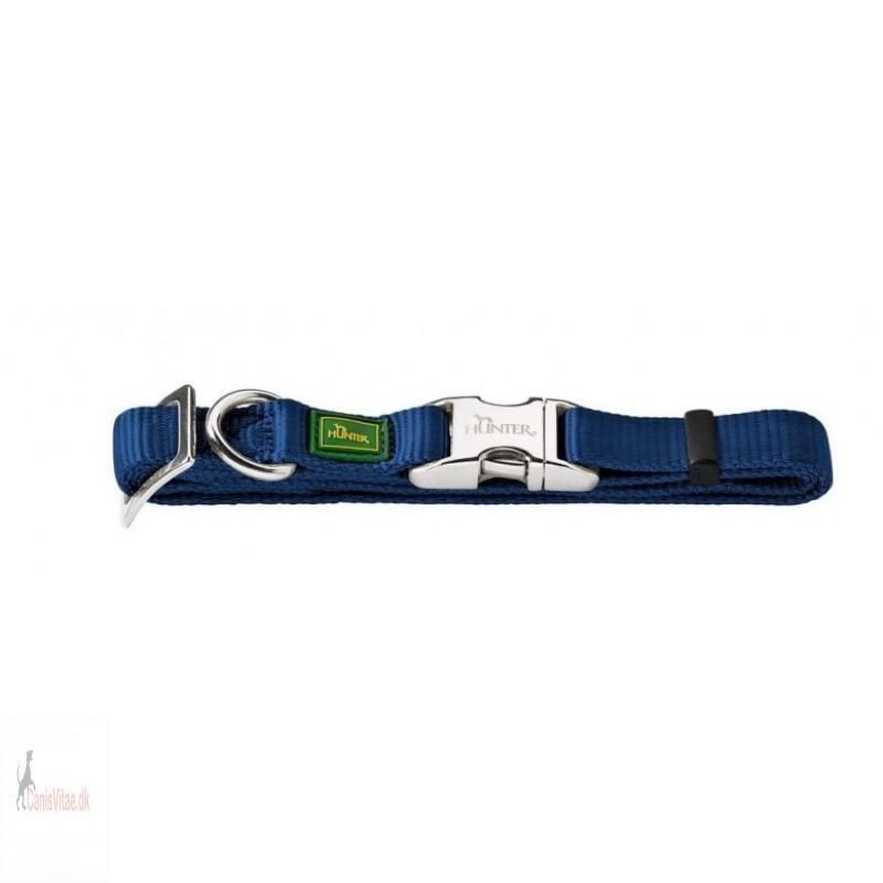 Hunter Vario Alu-Strong halsbånd, 40-55 cm - blå