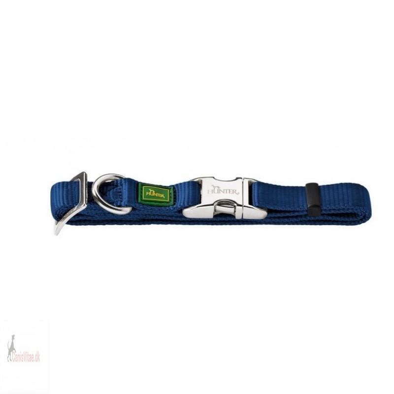 Hunter Vario Alu-Strong halsbånd, 45-65 cm - blå