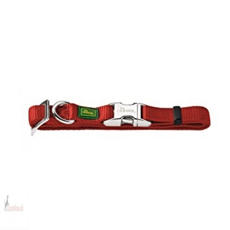 Hunter Vario Alu-Strong halsbånd, small - Burgundy mørk rød