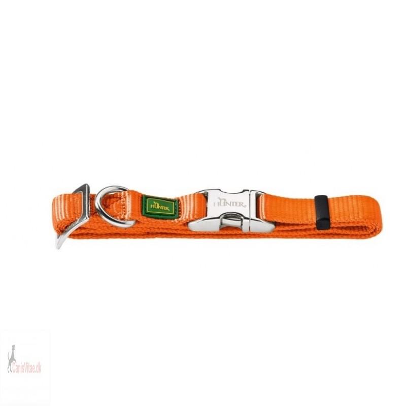Hunter Vario Alu-Strong halsbånd, 45-65 cm - orange