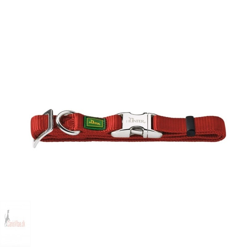 Hunter Vario Alu-Strong halsbånd, 45-65 cm - rød