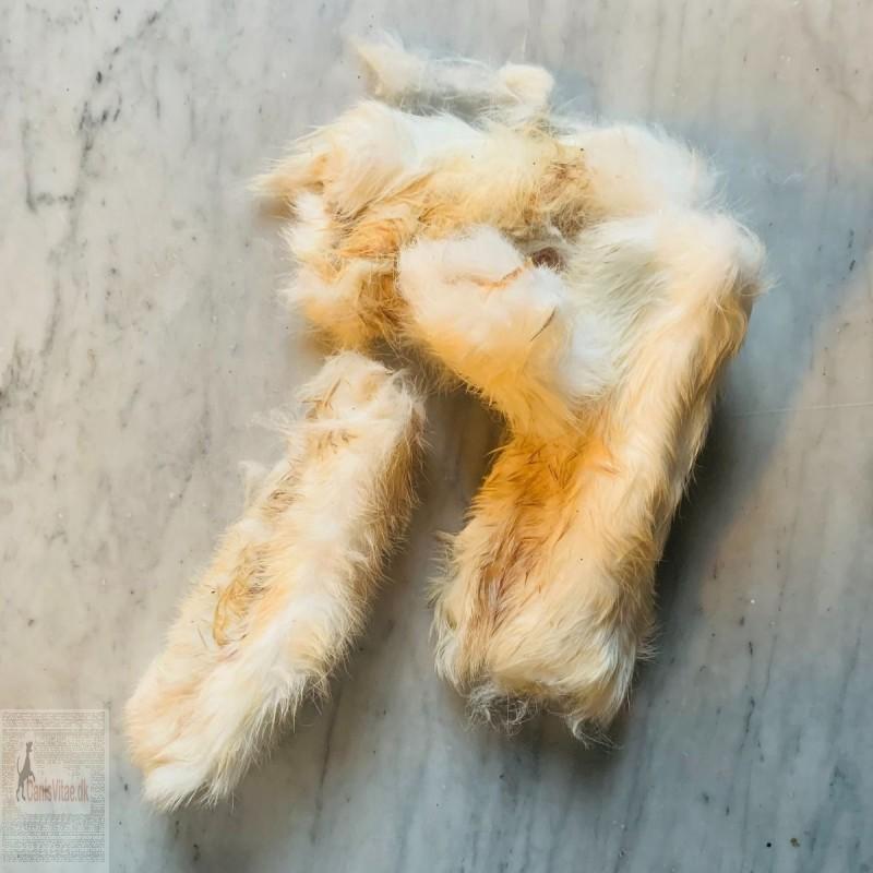 Kaninhud med pels 15cm / 500 gram