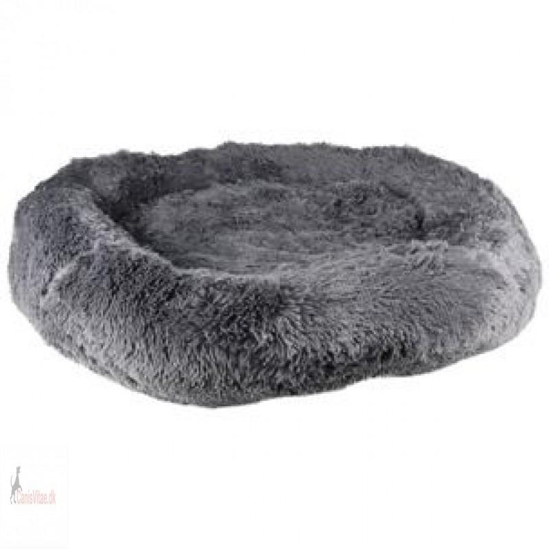 Fluffy hundepude, design krems, grå, 90 cm