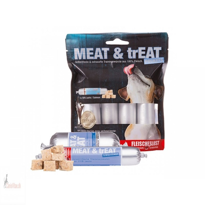 Meat & Treat Pocket Laks - 4 x 40 gram