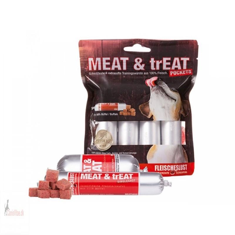 Meat & Treat pocket, bøffel - 4 x 40 gram